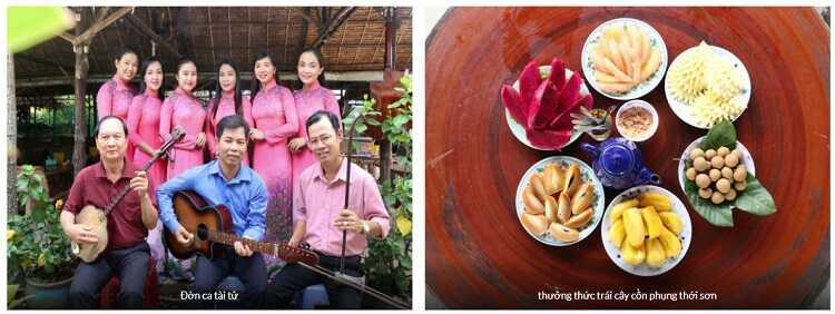 Giao lưu Đờn ca tài tử Nam Bộ và thưởng thức trái cây theo mùa.