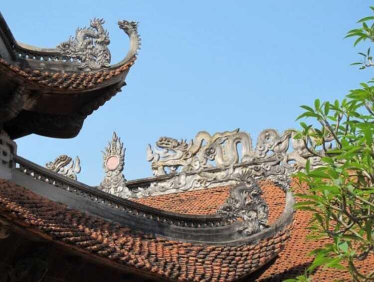 Những đường nét chạm khắc mang đậm nét kiến trúc nhà Lý ở Đền Đô Bắc Ninh