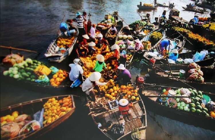 Chợ nổi Trà Ôn Vĩnh Long, điểm tham quan văn hóa miền sông nước