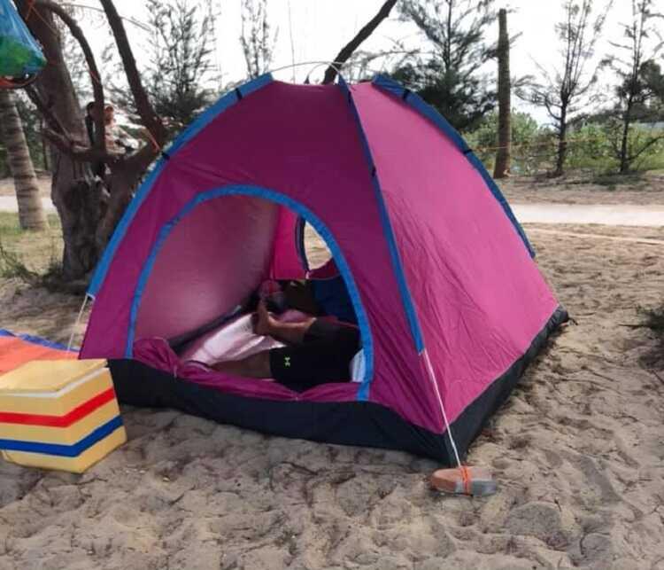 cắm trại đảo bình hưng